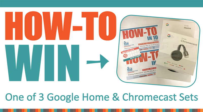 How-To Win one of three Google Home & Chromecast Sets